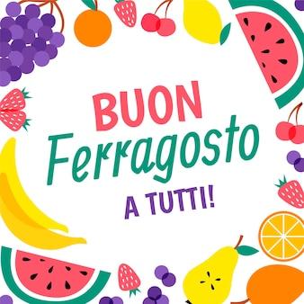 Ferragosto-feierillustration