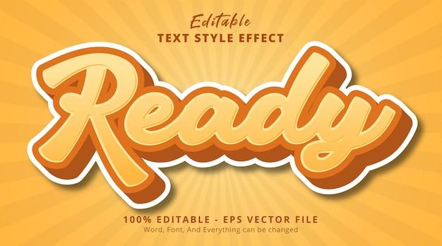 Fertiger text auf gelber kombination texteffekt, bearbeitbarer texteffekt