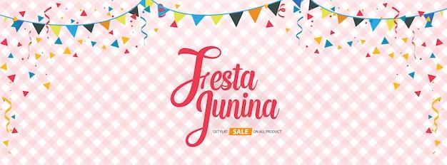Festa junina abdeckung hintergrund template design