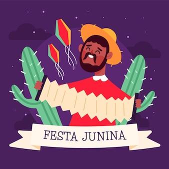 Festa junina ereignisillustration
