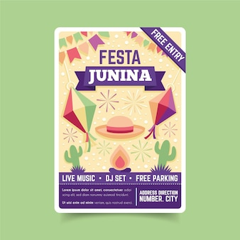 Festa junina event flyer vorlage