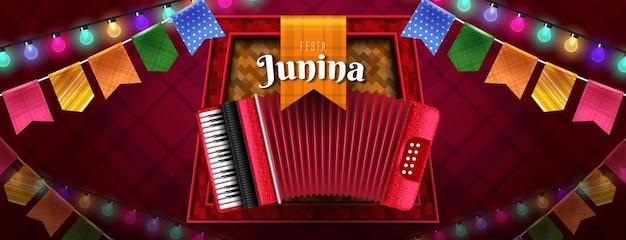 Festa junina feier banner design
