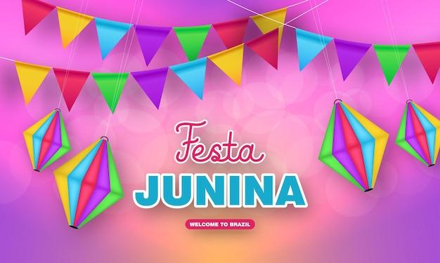 Festa junina feier-banner-design