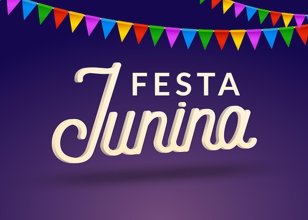 Festa junina feier party hintergrund. brasilien juni festival urlaub karneval design.