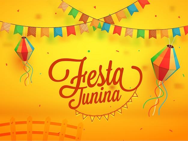 Festa junina, feiertagshintergrund.