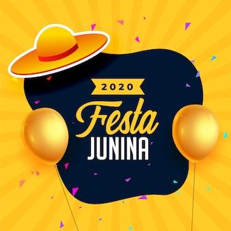 Festa junina festival hintergrund mit luftballons dekoration