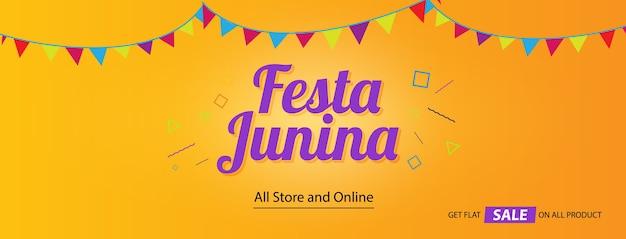 Festa junina festival social-media-abdeckung