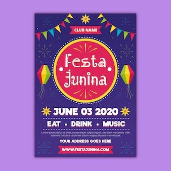Festa junina flyer-konzept
