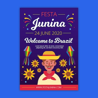 Festa junina flyer thema