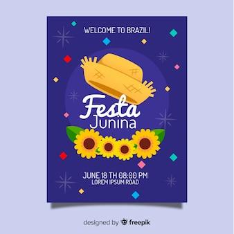 Festa junina flyer vorlage