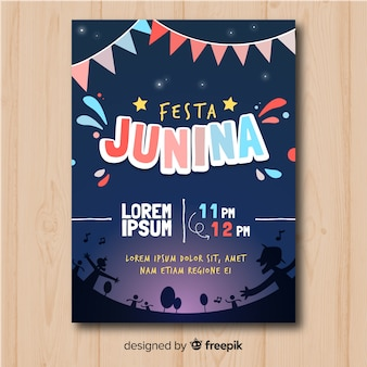 Festa junina flyer