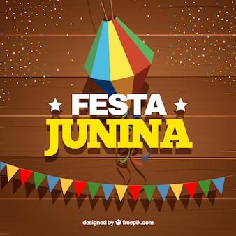 Festa junina hintergrund mit parteielementen