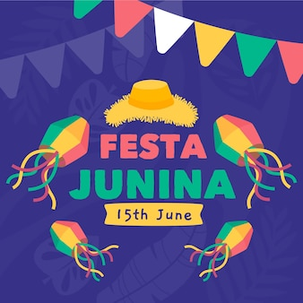 Festa junina hintergrundkonzept