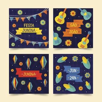 Festa junina kartensammlung design