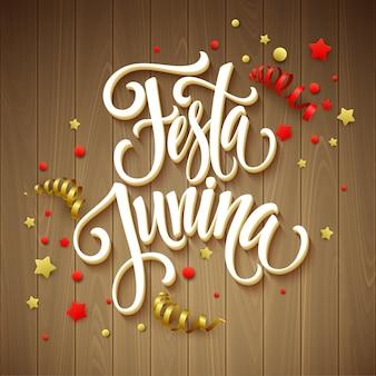 Festa junina party gruß design.