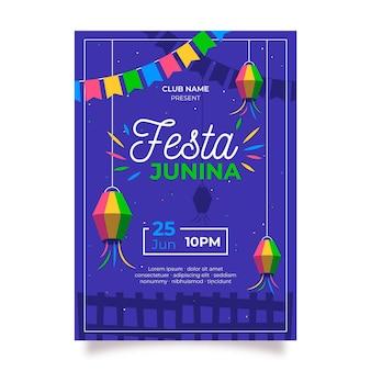 Festa junina plakatschablone