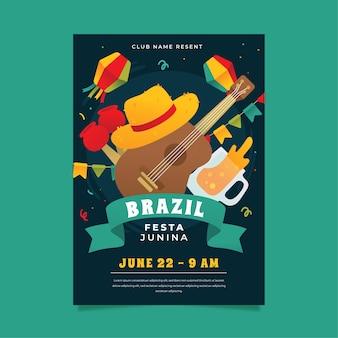 Festa junina plakatvorlage thema