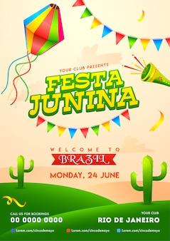 Festa junina poster.