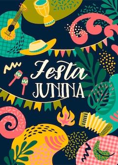 Festa junina schriftzug