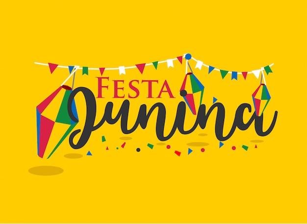 Festa junina-schriftzug