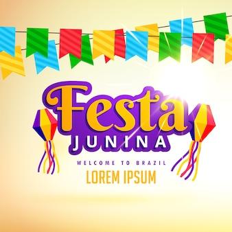 Festa junina urlaubsplakatentwurf