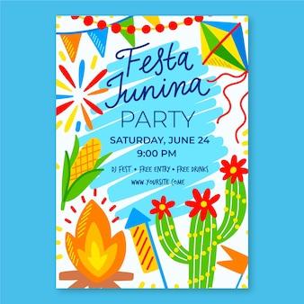 Festa junina vorlage für plakat