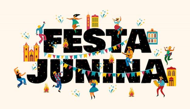 Festa junina. vorlagen für banner.