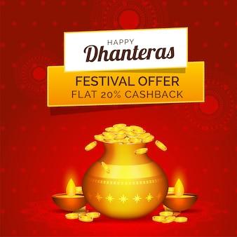 Festival angebot wohnung 20% cashback mit goldener münze.