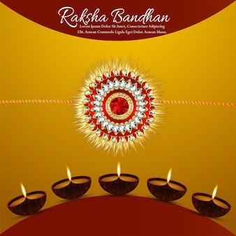 Festival des glücklichen raksha-bandhan-hintergrundes von bruder und schwester
