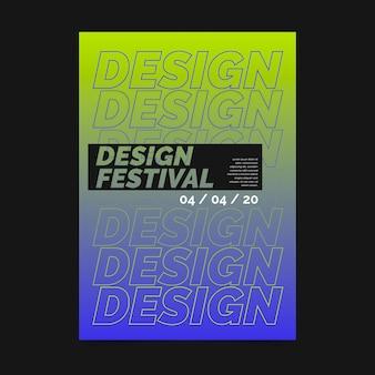 Festival design poster vorlage