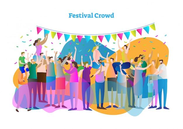 Festival menge vektor-illustration
