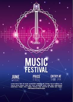 Festival musik flyer techno konzept