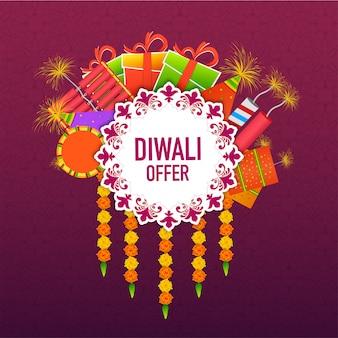 Festival von lichtern, glücklicher diwali-hintergrund.