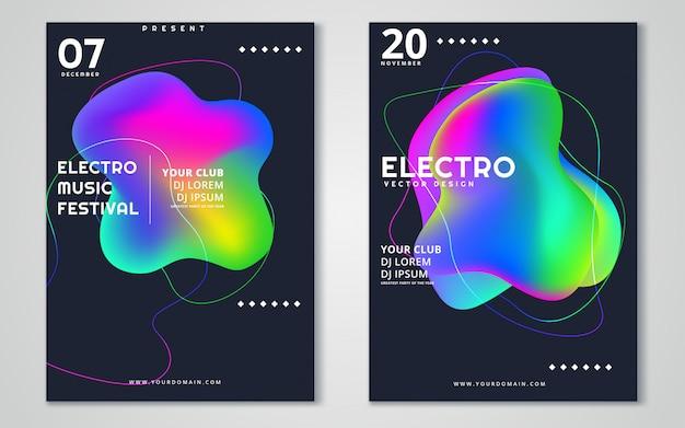Festival-werbeplakat der elektronischen musik.