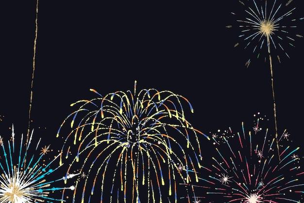 Festivalfeuerwerkshintergrundvektor für feiern und partys