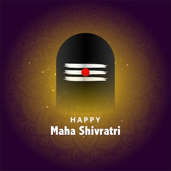 Festivalgruß für maha shivratri karte