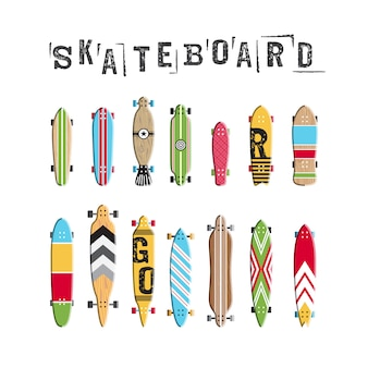 Festlegen der skateboard-sammlung