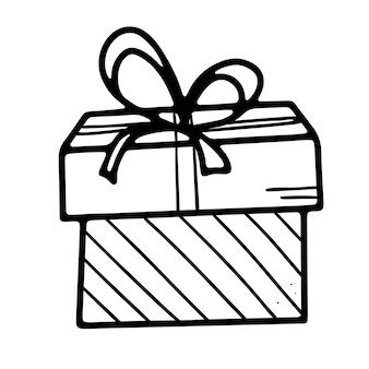 Festliche geschenkbox mit schleife verziert