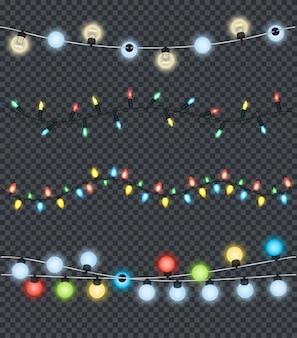 Festliche girlanden set dekorationen multicolor lights