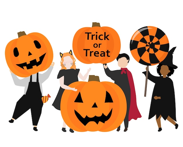 Festliche glückliche grafische illustration halloweens