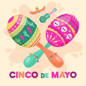 Festliche instrumente für cinco de mayo