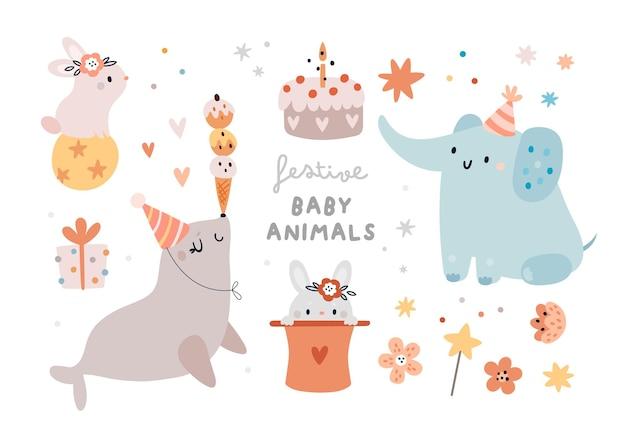 Festliche tierbabys