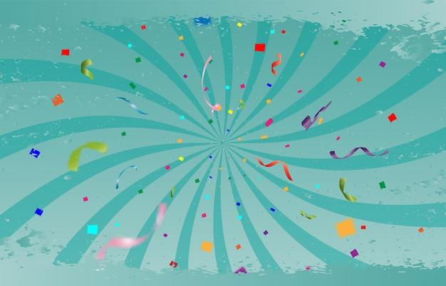 Festliche vektorillustration mit süßigkeiten und lichtern