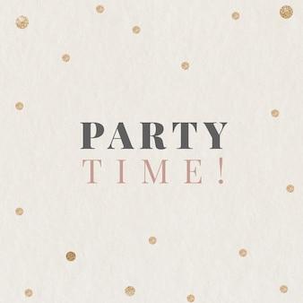 Festliche vorlage für die partyzeit, bearbeitbarer social-media-beitrag