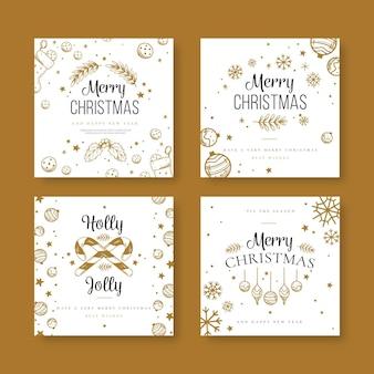 Festliche weihnachts-social-media-beiträge