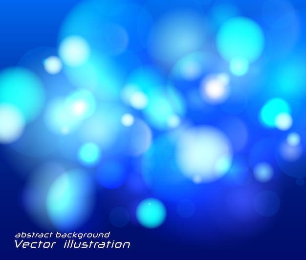 Festlicher blauer leuchtender hintergrund, lichter unscharfes bokeh.