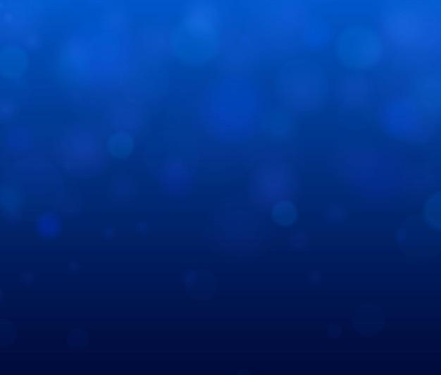 Festlicher blauer leuchtender hintergrund mit bunten lichtern. verschwommenes helles abstraktes bokeh.