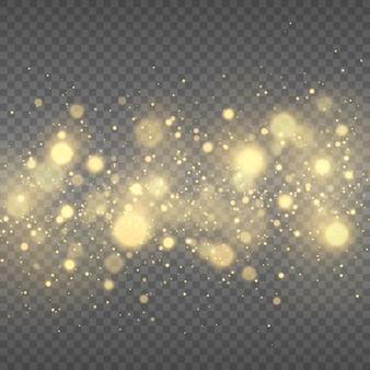 Festlicher goldener leuchtender hintergrund mit bunten lichtern bokeh