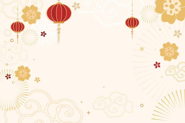 Festlicher hintergrund der chinesischen neujahrsfeier