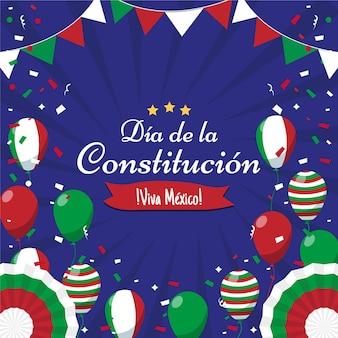 Festlicher hintergrund des mexikanischen verfassungstages